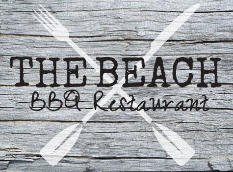 cool beach side restaurant logo